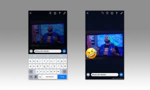 WhatsApp Status mit Textnachricht