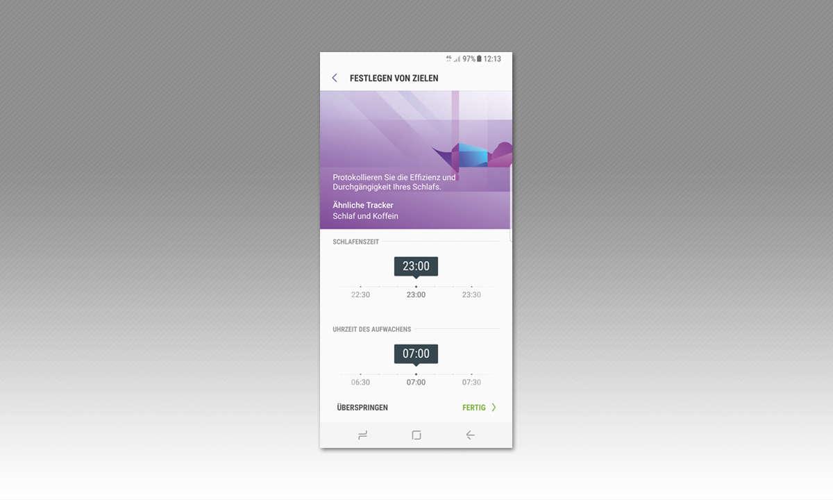 Samsung Health App Schalfanalyse
