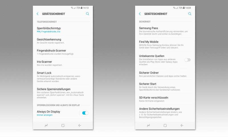 Galaxy S8: So funktionieren Smart Lock und Samsung Pass - connect
