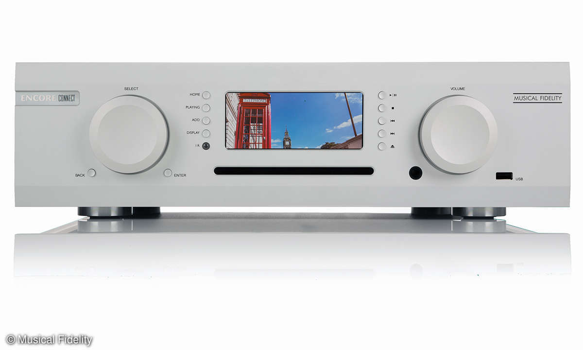 Musical Fidelity Encore Connect Front Silber