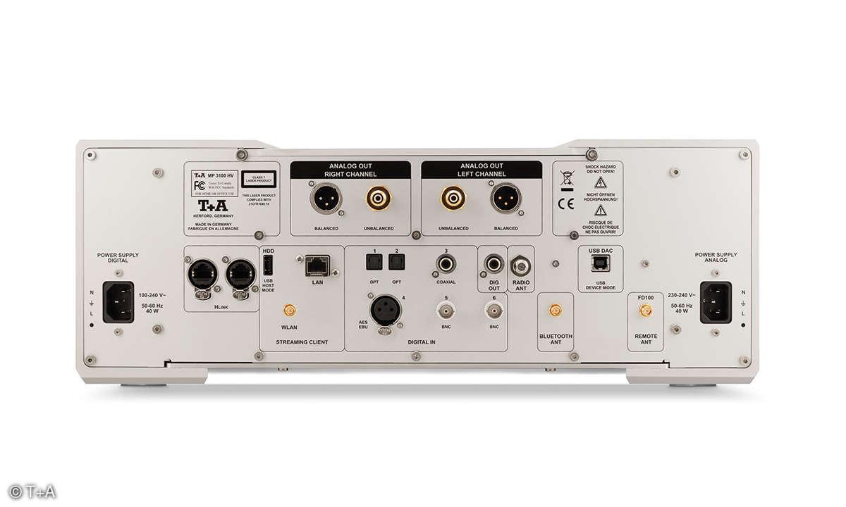 T+A MP 3100 HV Rückseite