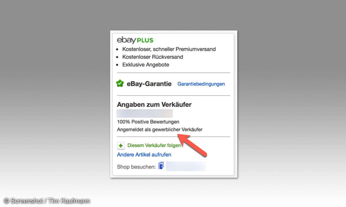 Ebay Verkäufer Bewertung