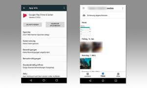 Android Fotos und App-Info