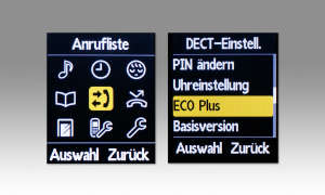 Panasonic KX-TGQ 400 Bildschirm
