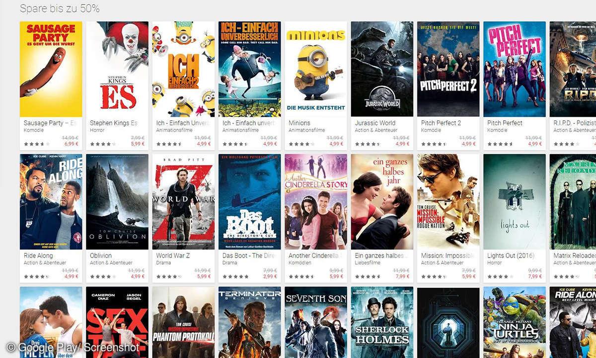 Filme bei Google Play