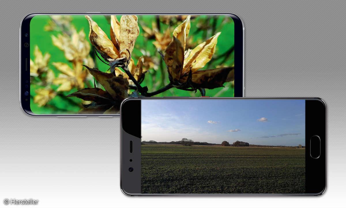 Samsung Galaxy S8 und Huawei P10