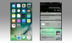 iPhone Home-Screen und Widget-Screen