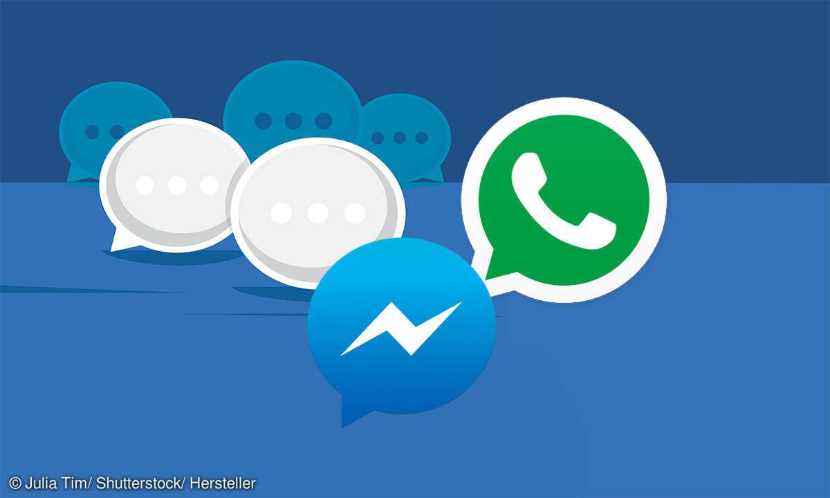 WhatsApp und Facebook-Messenger