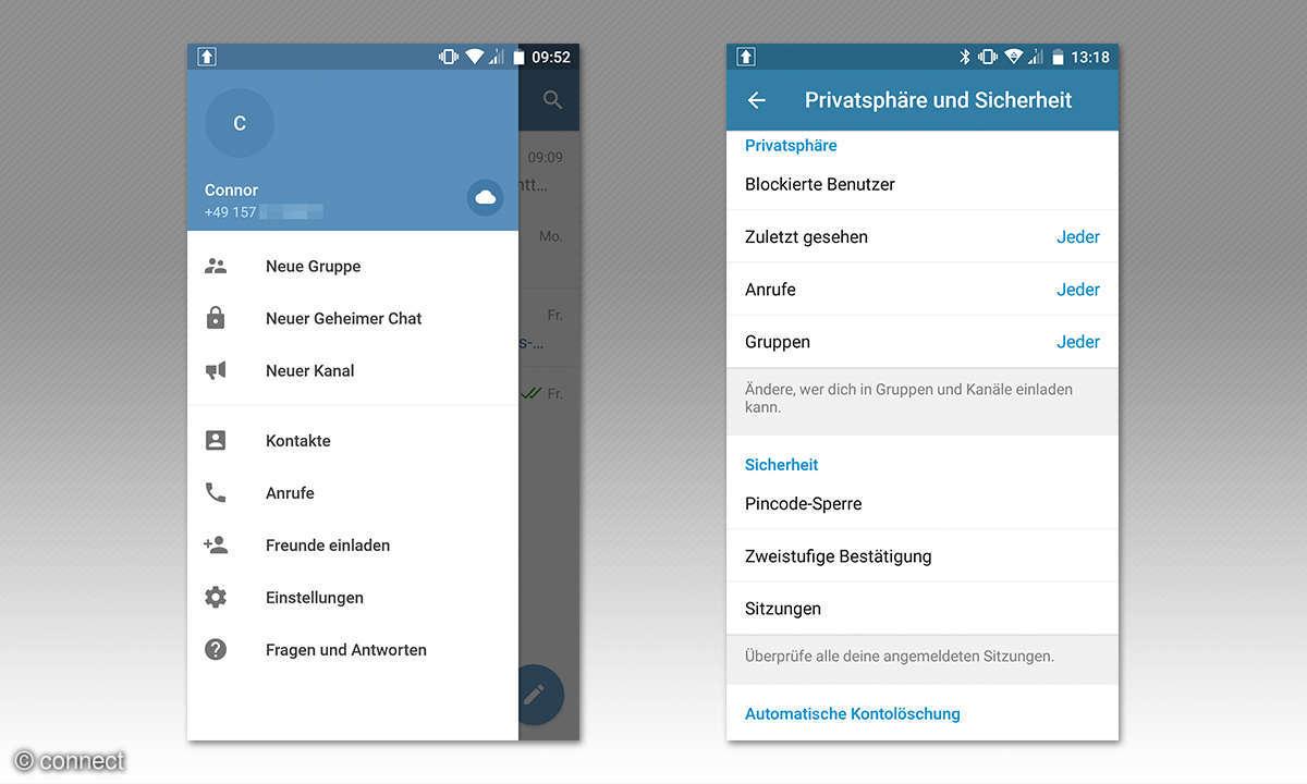 Screenshots Telegram