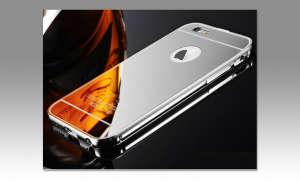 iPhone mit verspiegelter Hülle