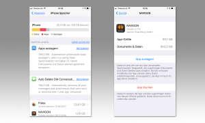iPhone Speicher verwalten