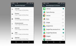 App-Berechtigungen in Android