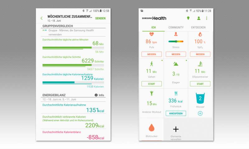 Samsung S Health im Test - connect