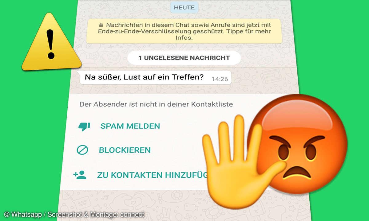 Whatsapp Spam melden blockieren