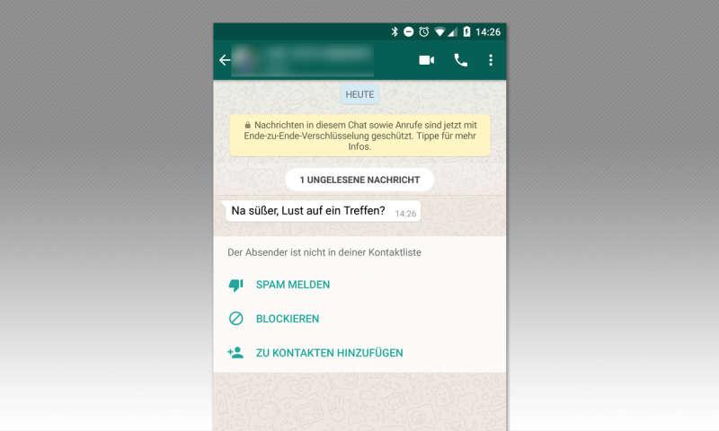 kontakt bei whatsapp blockieren