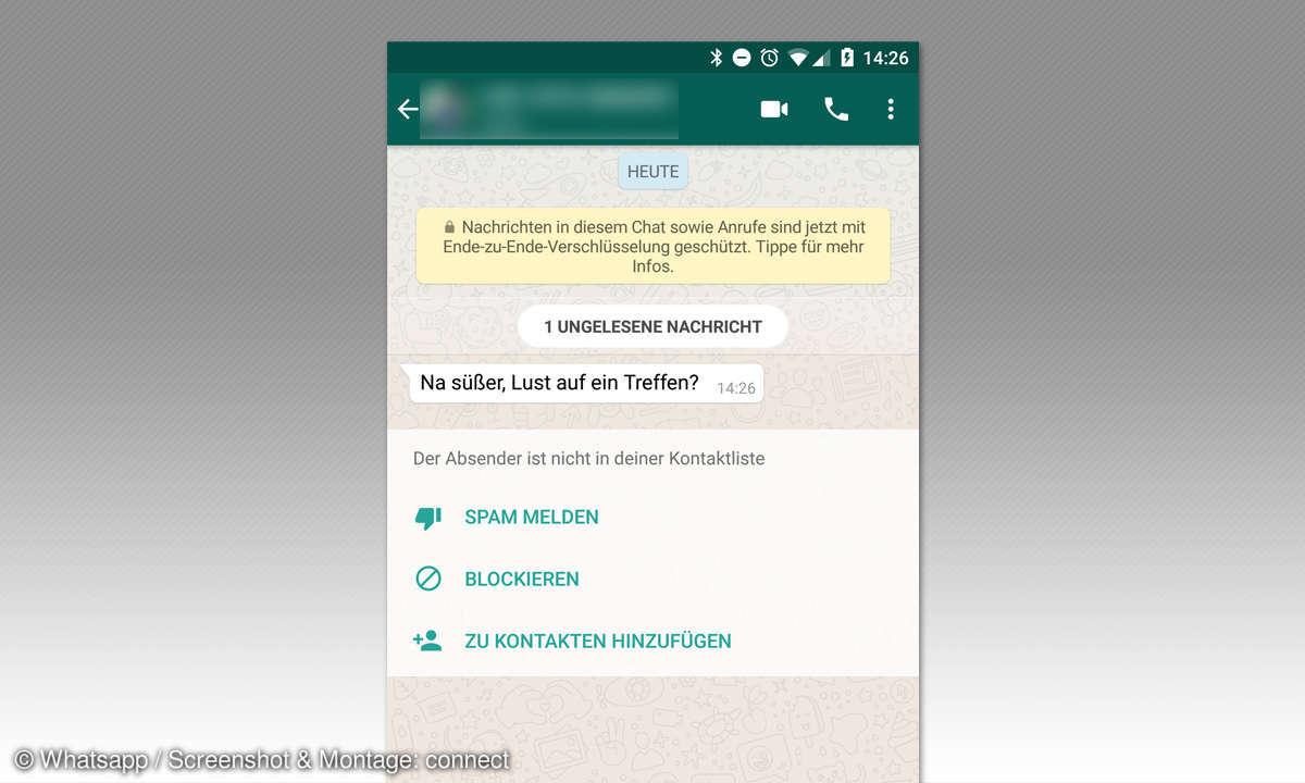 whatsapp unbekannten kontakt blockieren