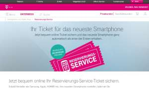 Reservierungs-Service Telekom iPhone 8
