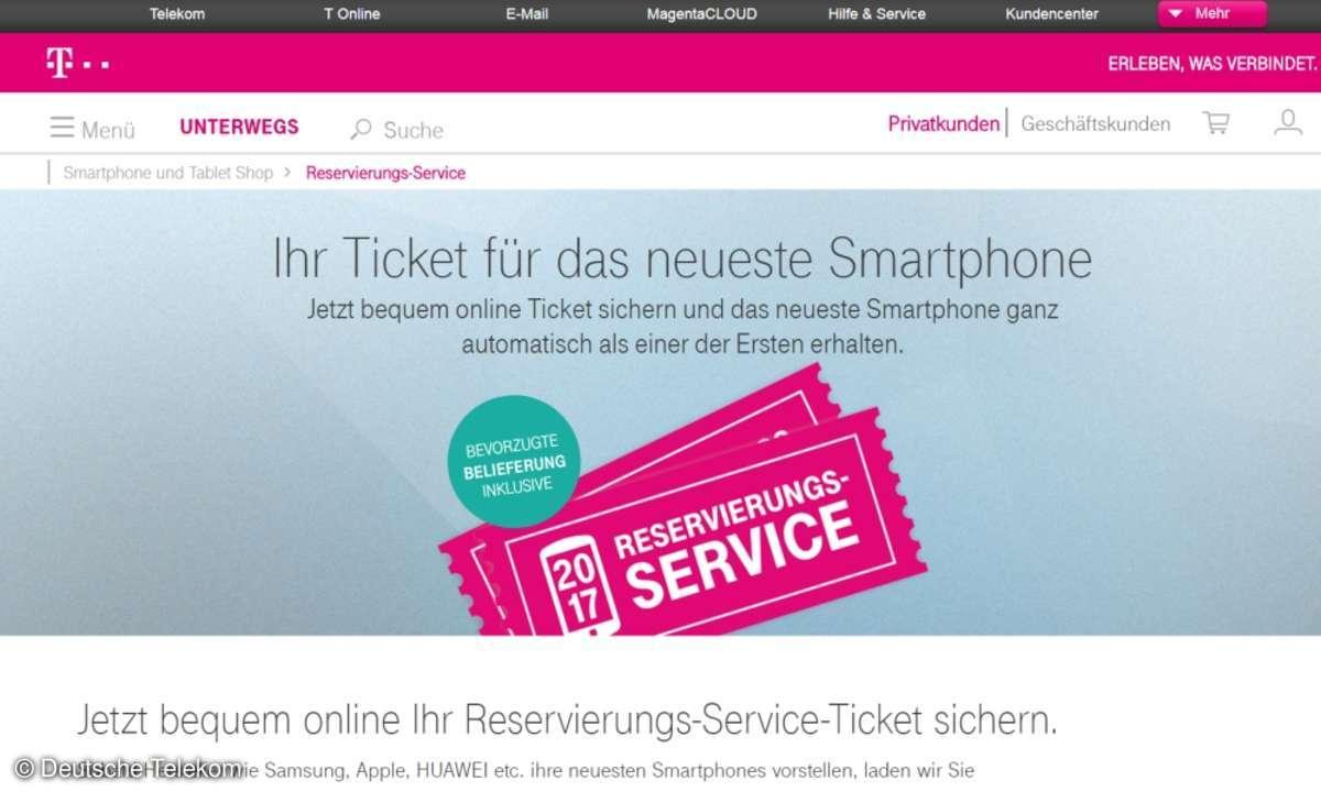 Reservierungs-Service Telekom iPhone 8