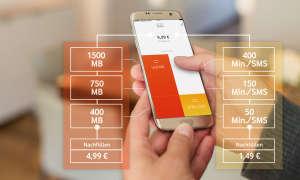 Vodafone CallYa-Felx-Tarif Schaubild