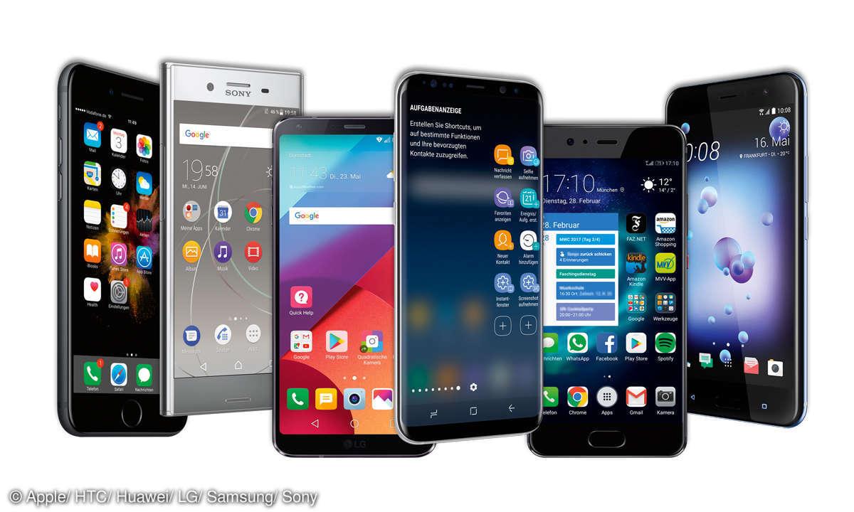 Top-Smartphones Vergleich