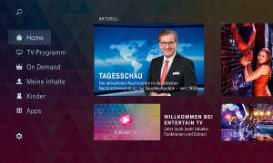 Hauptmenü Entertain IPTV