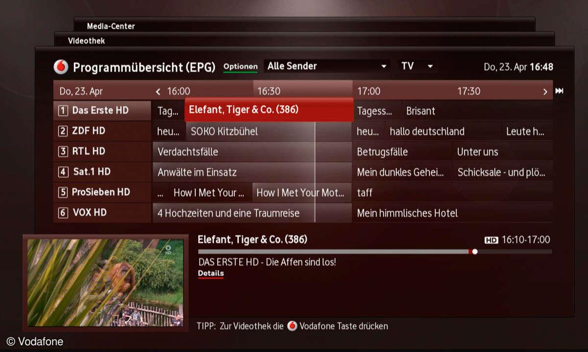 Vodafone TV -EPG