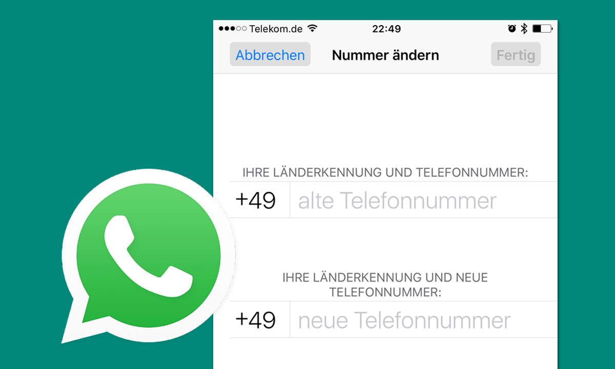 Whatsapp Telefonnummer ändern