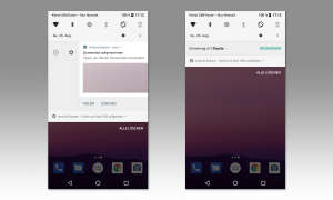 Android 8 Schlummertaste