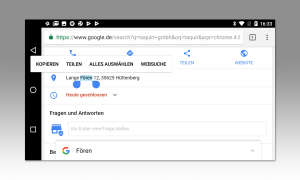 Android 8 Textauswahl