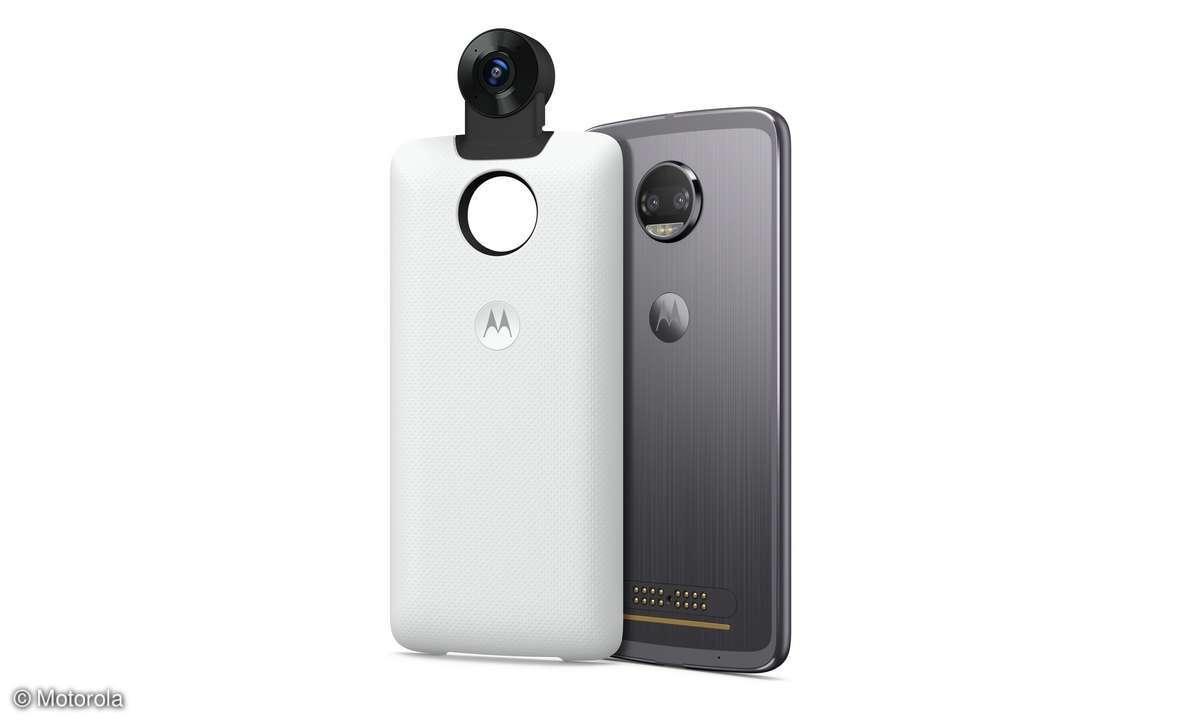 360 Camera Moto Mod mit Moto Z2 Force Edition
