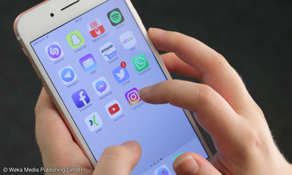 Instagram-App Smartphone