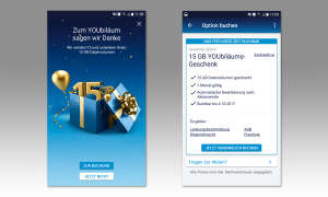 O2 YOUbiläumsaktion Mein O2 App Screens