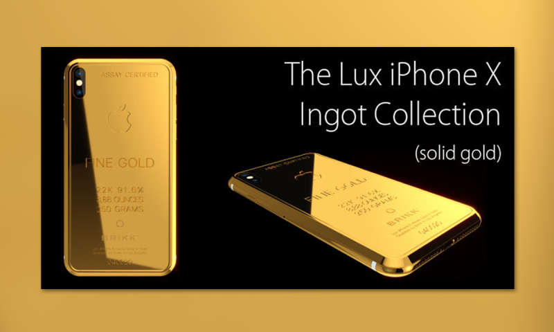 iphone x luxusedition in gold f r us dollar connect. Black Bedroom Furniture Sets. Home Design Ideas