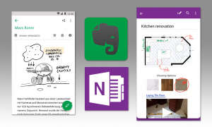 Evernote und One Note Screens