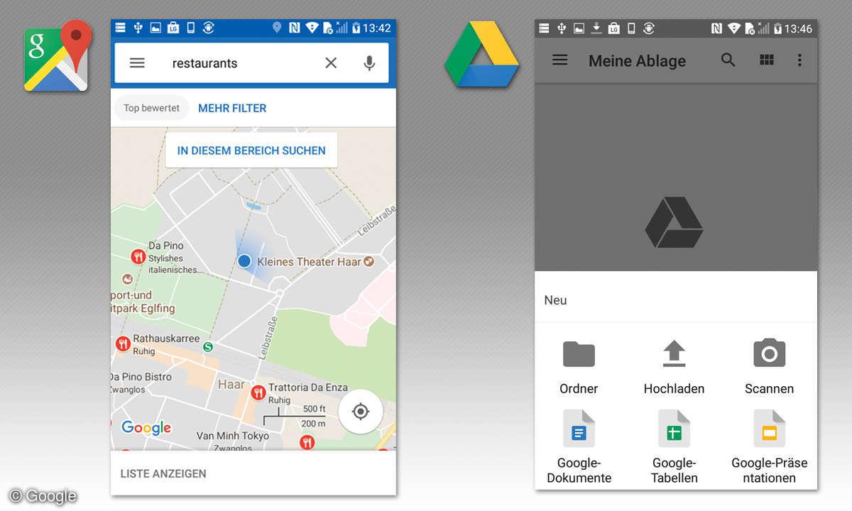 Google Maps & Google Drive
