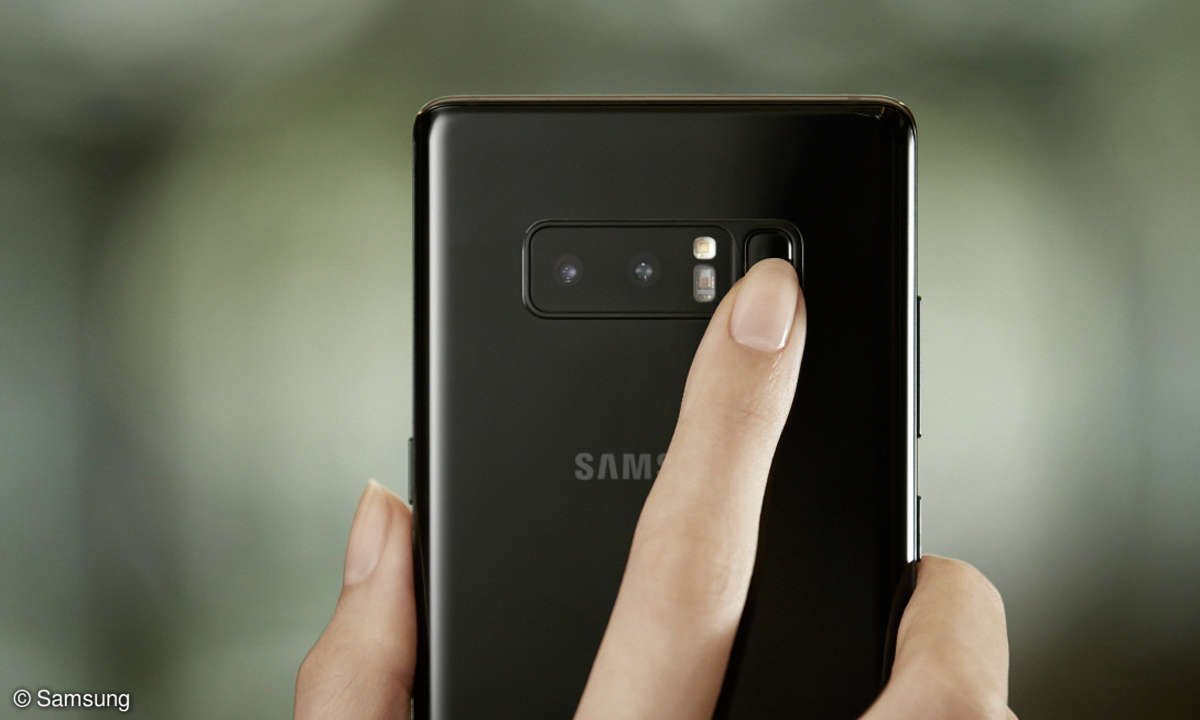 Samsung Galaxy Note 8 Fingerabdruck