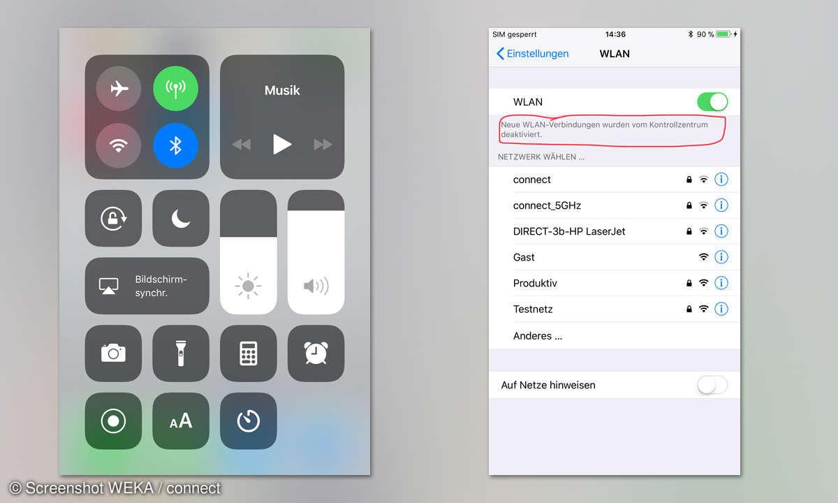 iOS 11 WLAN deaktivieren