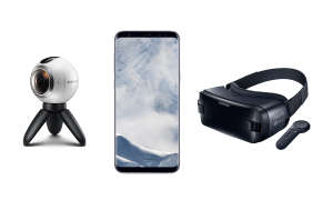 Samsung Galaxy S8 Plus Gear VR und Gear 360