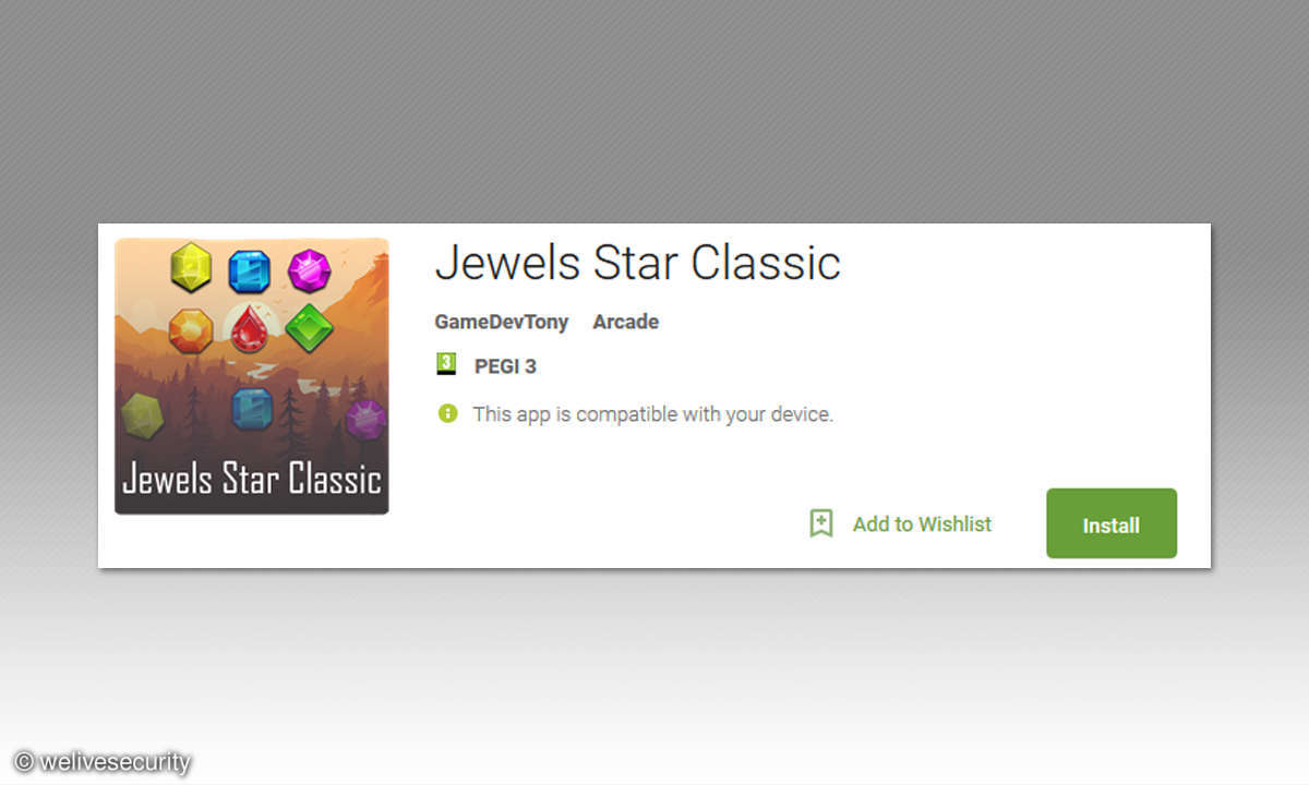 BankBot Trojaner in Jewels Star Classic