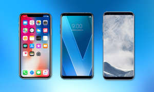 iPhone X, LG V30 und Galaxy S8