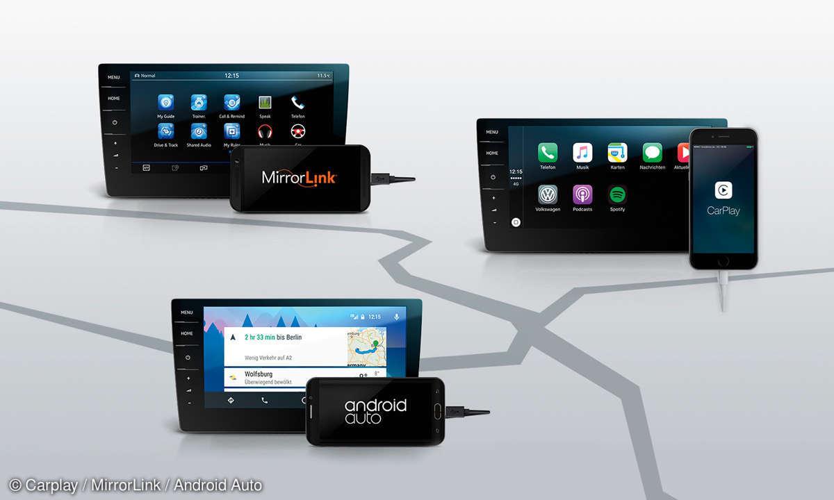Carplay MirrorLink Android Auto Aufmacher