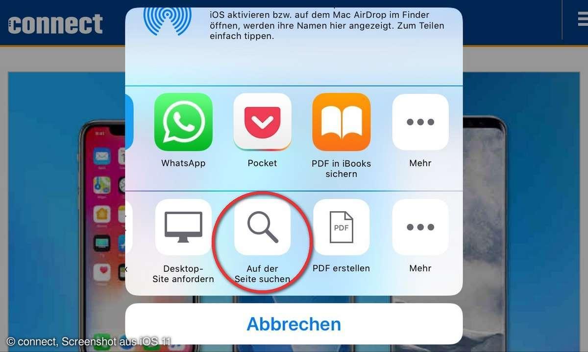 iPhone iPad iOS Webseite