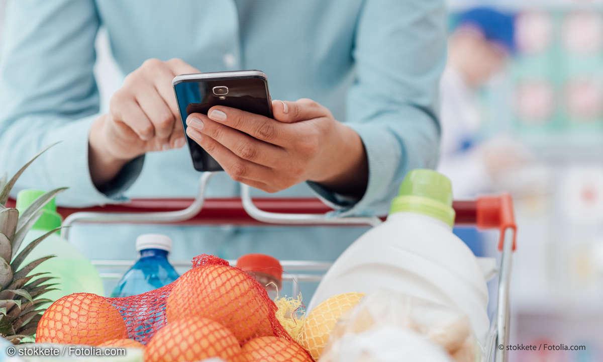 Smartphone Einkaufsliste App