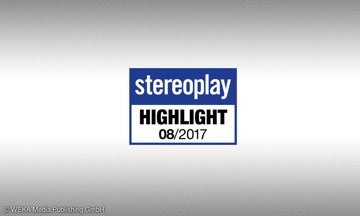 Testsiegel 08/17 stereoplay Highlight