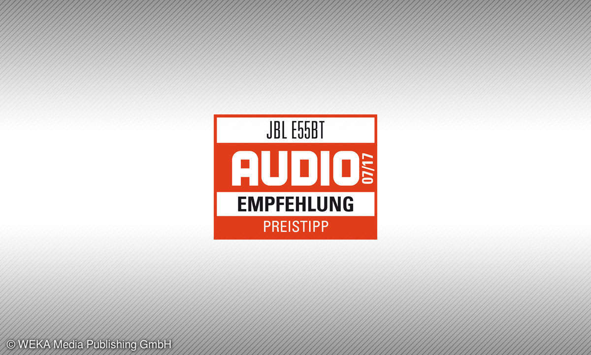 Testsiegel audio JBL E55BT