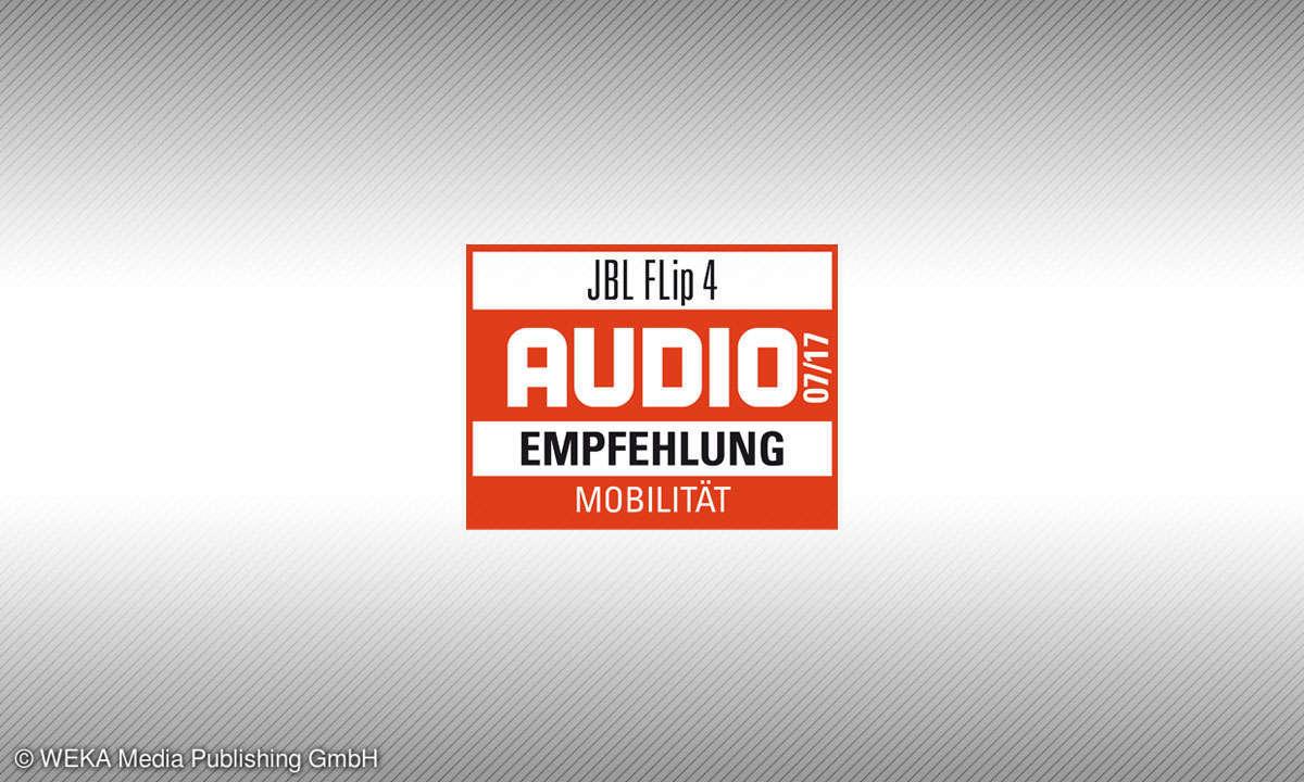 Testsiegel audio JBL Flip 4