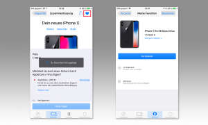 Apple Store App iPhone Favorit hinzufügen
