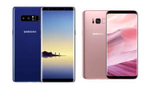 Samsung Galaxy S8 Rose Pink Galaxy Note 8 Deepsea Blue