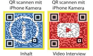 Der gelbe Punkt QR Codes