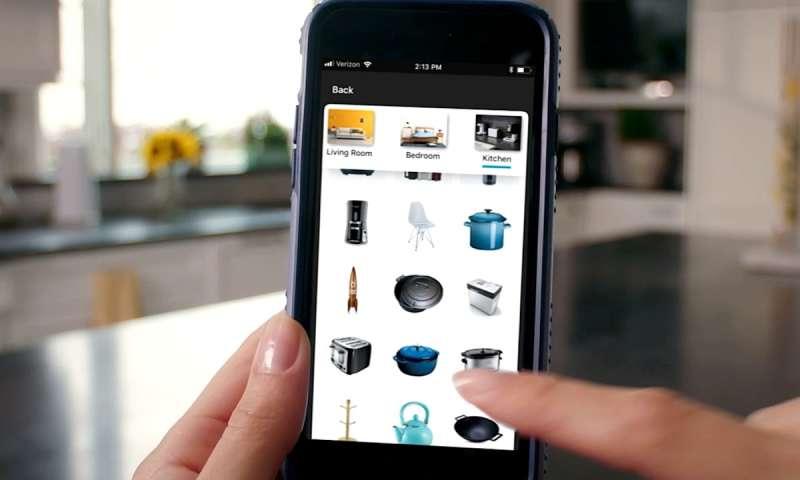 58d224302b6de5 Gegenstand kann frei in den Raum gesetzt werden. Mit der neuen Funktion AR  View können Kunden ...